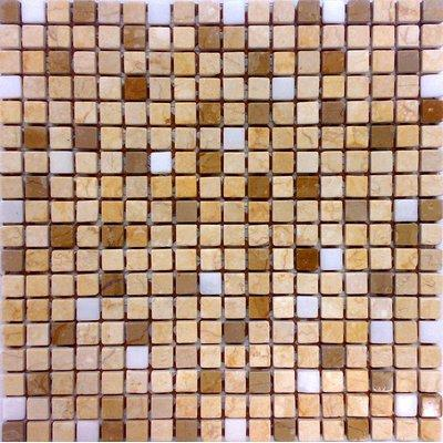 Naturstein Mosaik 1,5x1,5 beige mix FP-NO.20 30x30 matt