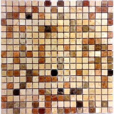 Naturstein Brick braun mix FP-A118-3P 30x30 poliert
