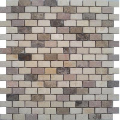 Naturstein Mosaik 1,5x1,5 grau mix FP-A118-3M Brick 30x30 matt