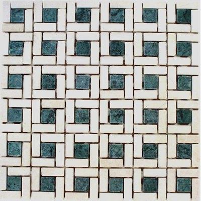 Naturstein Spirale green FP-MBD03K 30x30