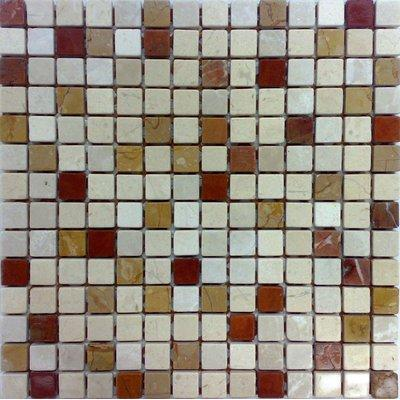 Naturstein Mosaik 2x2 beige mix FP-NO.01 30x30 matt