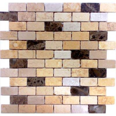 Naturstein Mosaik 2,5x5 coffee-travertin FP-NO.07 30x30