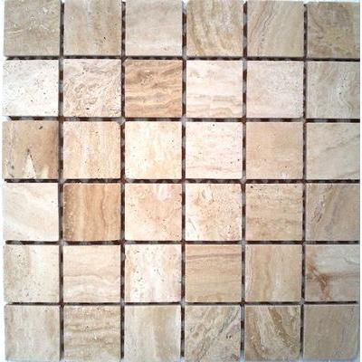 Naturstein Mosaik 4,8x4,8 travertin FP-JDP074-48 30x30