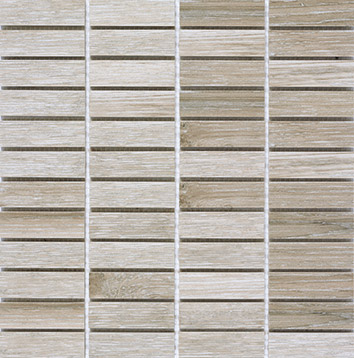Pamesa Bosco Taupe PAM-396861MO Mosaik 2,5x7,5 Holzoptik 1. Sorte R10