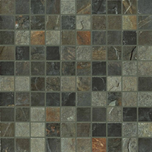 Unicom Starker Natural Slate multicolor UNI-4021  Mosaik 3x3 30x30 geschiefert