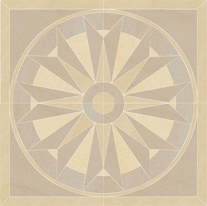 Paradyz Arkesia beige PAR-FZD248509  Bodendekor 90x90 matt