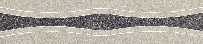 Paradyz Arkesia grafit/grys PAR-FZD252079  Dekor 45x10 matt