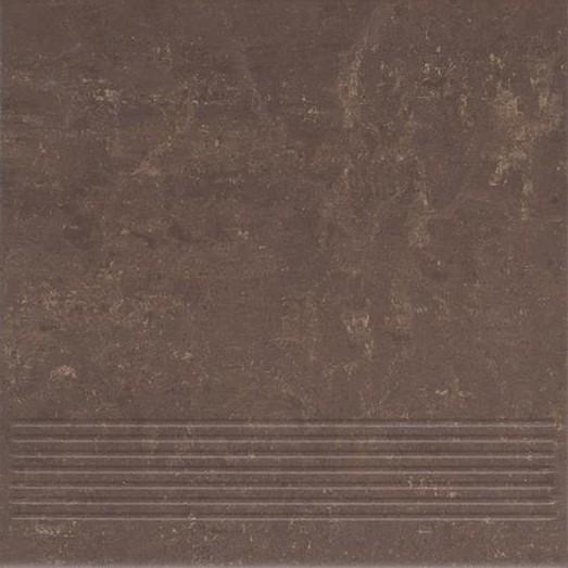 Paradyz Mistral brown PAR-FZD235844  Rillenstufe 30x30 matt