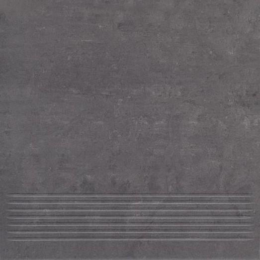 Paradyz Mistral nero PAR-FZD236384  Rillenstufe 30x30 matt