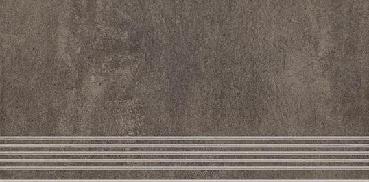 Paradyz Taranto brown PAR-FZD396855  Rillenstufe 60x30 matt