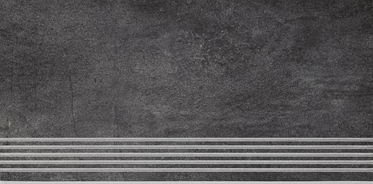Paradyz Taranto grafit PAR-FZD265666  Rillenstufe 60x30 matt