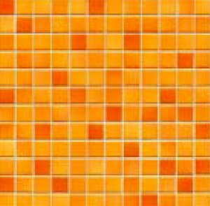 Jasba Fresh sunset orange-mix JA-41211 H Mosaik 2x2 32x32 glänzend