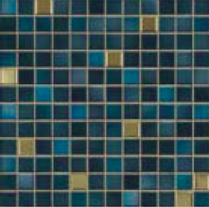 Jasba Fresh midnight blue-mix JA-41509 Mosaik 2x2 32x32 glänzend metallic