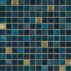 Jasba Fresh midnight blue-mix JA-41509 Mosaik 2x2 32x32 glänzend metallic
