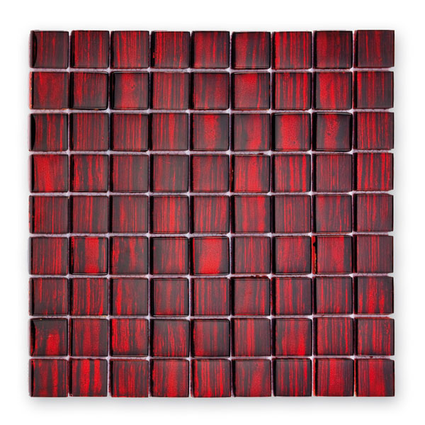 Bärwolf Jewelry ruby red BA-GL-13002 Glas Mosaik 3x3 30x30 glänzend