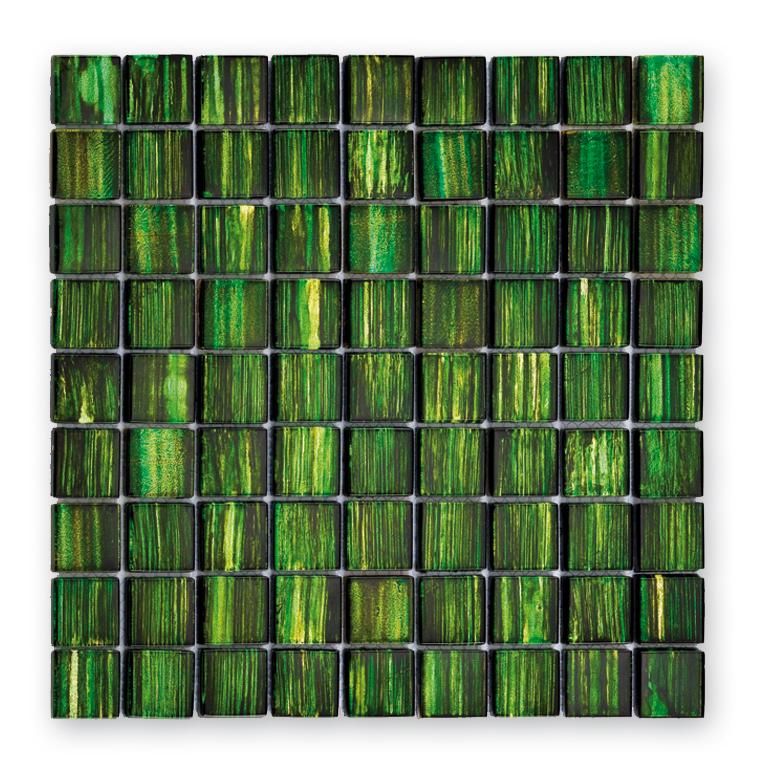 Bärwolf Jewelry emerald green BA-GL-13001 Glas Mosaik 3x3 30x30 glänzend
