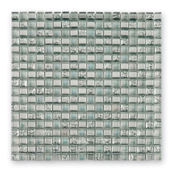 Bärwolf Translucent sparking silver BA-GL-09001 Glas Mosaik 1,5x1,5 30x30 glänzend