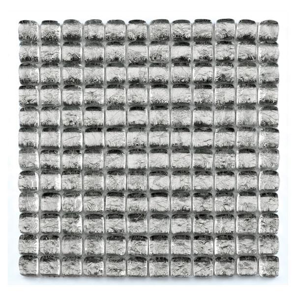 Bärwolf Ice Cube silver BA-GL-11002 Glas Mosaik 2,5x2,5 30x30 glänzend