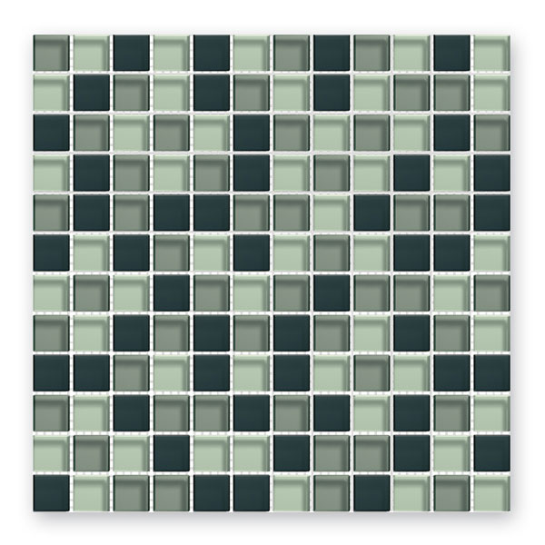 Bärwolf Translucent graphit mix BA-GL-2343 Glas Mosaik 2,3x2,3 30x30 glänzend