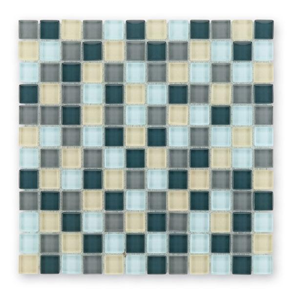 Bärwolf Translucent silver grey mix BA-GL-2411 Glas Mosaik 2,3x2,3 30x30 glänzend