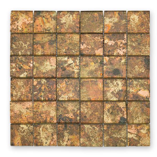 Bärwolf Byzantine cream BA-GL-2530 Glas Mosaik 4,8x4,8 30x30 glänzend