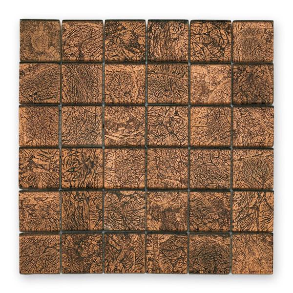 Bärwolf Byzantine brown BA-GL-2531 Glas Mosaik 4,8x4,8 30x30 glänzend
