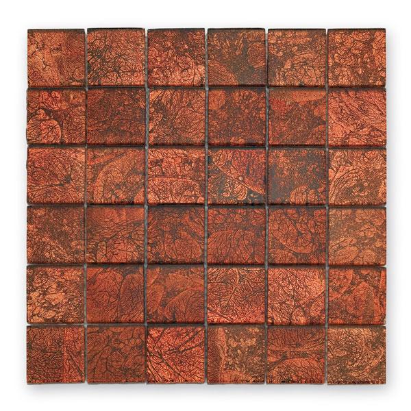 Bärwolf Byzantine red BA-GL-2532 Glas Mosaik 4,8x4,8 30x30 glänzend