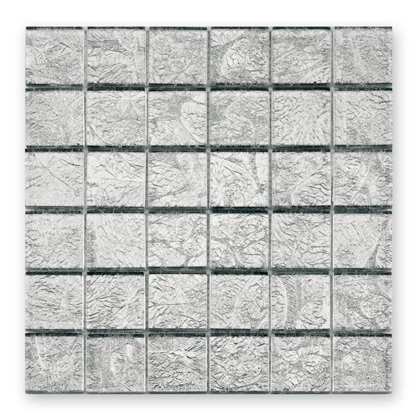 Bärwolf Byzantine silver BA-GL-2536 Glas Mosaik 4,8x4,8 30x30 glänzend