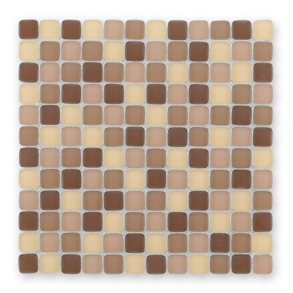 Bärwolf Cushion chocolate mix BA-GL-6001 Glas Mosaik 2,3x2,3 30x30 matt