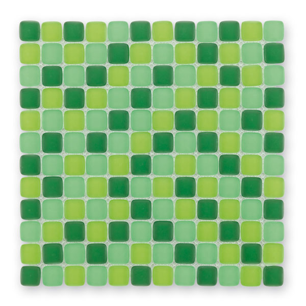 Bärwolf Cushion green mix BA-GL-6002 Glas Mosaik 2,3x2,3 30x30 matt