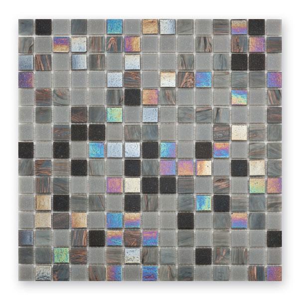 Bärwolf Classic grey black mix BA-GL-K09 Glas Mosaik 2x2 30x30 matt/glänzend