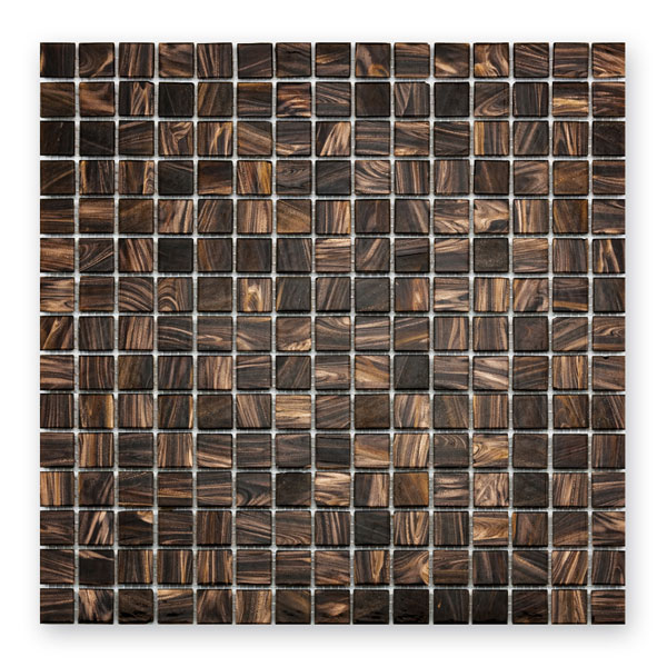 Bärwolf Classic brown Gold  BA-GL-K13 Glas Mosaik 2x2 30x30 matt/glänzend