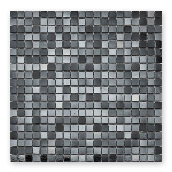 Bärwolf Classic reflex black BA-GL-K24 Glas Mosaik 1x1 30x30 matt/glänzend
