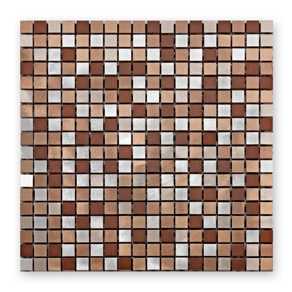 Bärwolf Aluminium coffee mix BA-MB-1310 Metall Mosaik 1,5x1,5 30x30 matt/glänzend