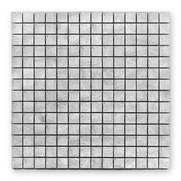 Bärwolf Steel silver BA-MC-10002 Metall Mosaik 2x2 30x30 matt/glänzend