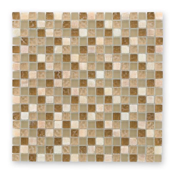 Bärwolf Tuscany natural BA-GL-2492 Materialmix Mosaik 1,5x1,5 30x30 matt/glänzend