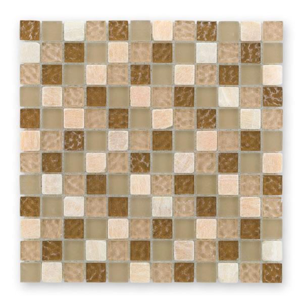 Bärwolf Tuscany natural BA-GL-2494 Materialmix Mosaik 2,3x2,3 30x30 matt/glänzend R9
