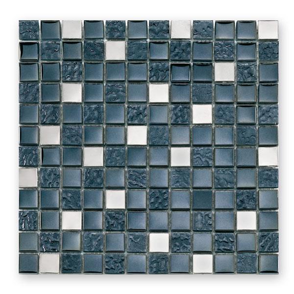 Bärwolf Tuscany metal black BA-GL-2496 Materialmix Mosaik 2,3x2,3 30x30 matt/glänzend