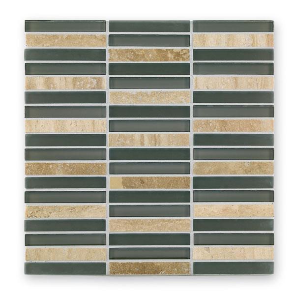 Bärwolf Sticks aspen brown BA-GL-2550 Materialmix Mosaik 1,5x9,8 30x30 matt/glänzend