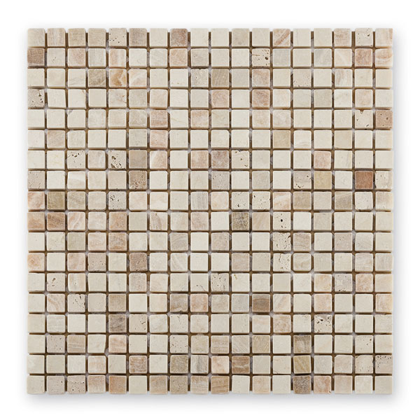 Bärwolf Square cream beige BA-AM-0002 Marmor Mosaik 1,5x1,5 30x30 matt