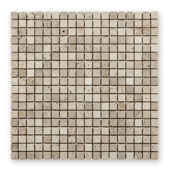 Bärwolf Square cream beige BA-AM-0003 Marmor Mosaik 1,5x1,5 30x30 matt