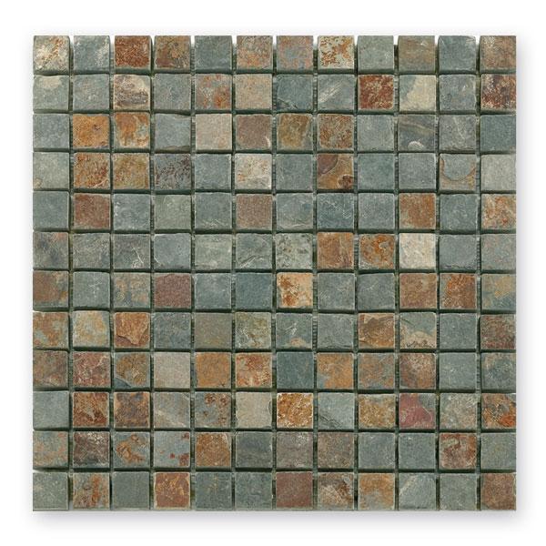 Bärwolf Square rustic BA-CM-7112 Schiefer Mosaik 2,3x2,3 30x30 matt