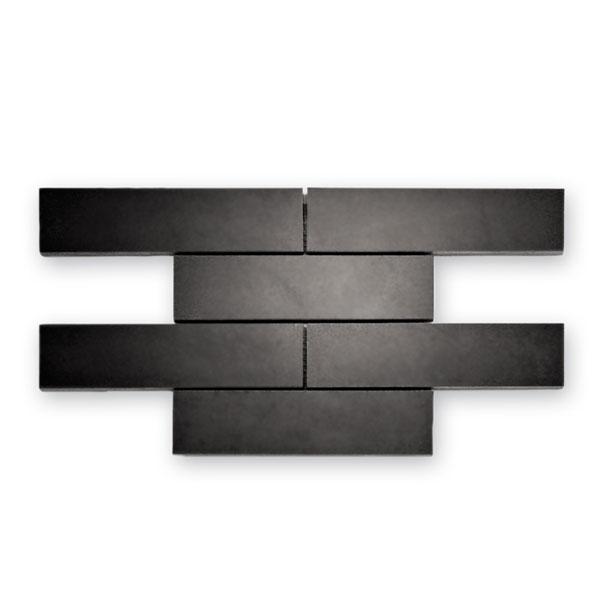 Bärwolf Loft black polish BA-BM-11001 Basalt Mosaik 20x5 21x30 matt