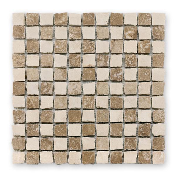 Bärwolf Square beige cream BA-CM-09001 Marmor Mosaik 2,5x2,5 30x30 matt