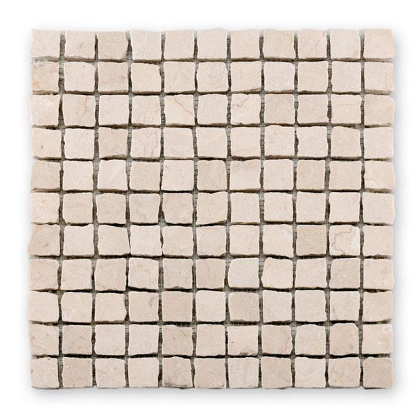Bärwolf Square cream BA-CM-09002 Marmor Mosaik 2,5x2,5 30x30 matt
