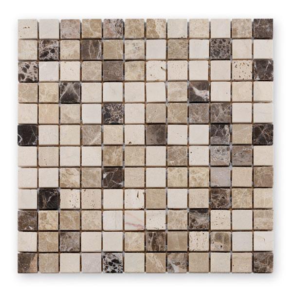 Bärwolf Square cream beige empador BA-CM-09009 Marmor Mosaik 2,3x2,3 30x30 matt R10
