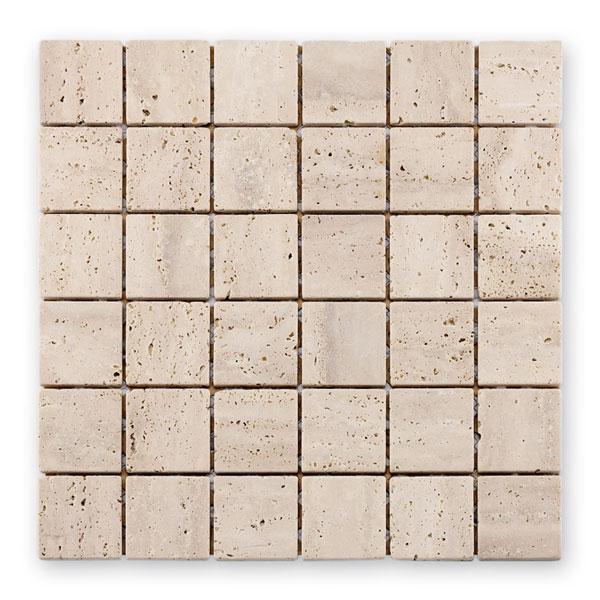 Bärwolf Square white beige BA-CM-09010 Marmor Mosaik 4,8x4,8 30x30 matt R10
