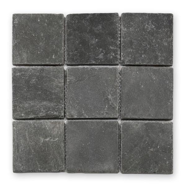 Bärwolf Pavement black BA-CM-12001 Schiefer Mosaik 9,8x9,8 30x30 matt R11