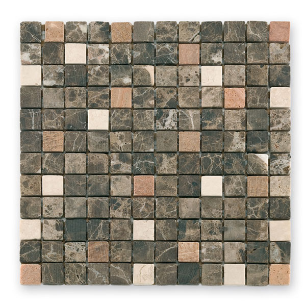 Bärwolf Square emperador beige cream BA-CM-7100 Marmor Mosaik 2,3x2,3 30x30 matt R10