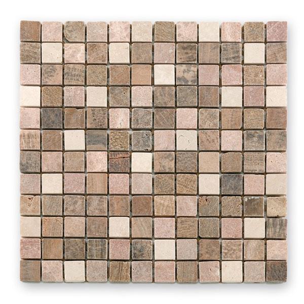 Bärwolf Square brown beige BA-CM-7106 Marmor Mosaik 2,3x2,3 30x30 matt R10